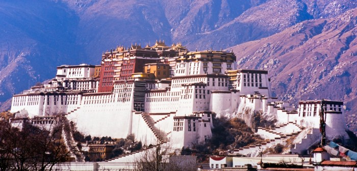 Potala Palace in Lhasa, Tibet, former home of the Dalai Lama via Deposit Photos