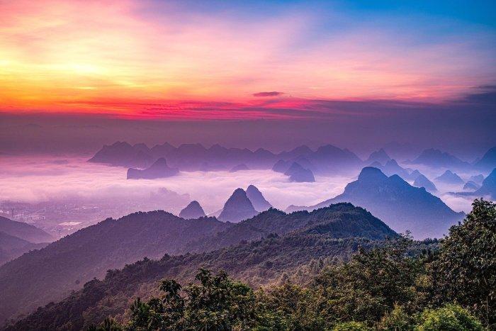 Sunrise in Guilin China