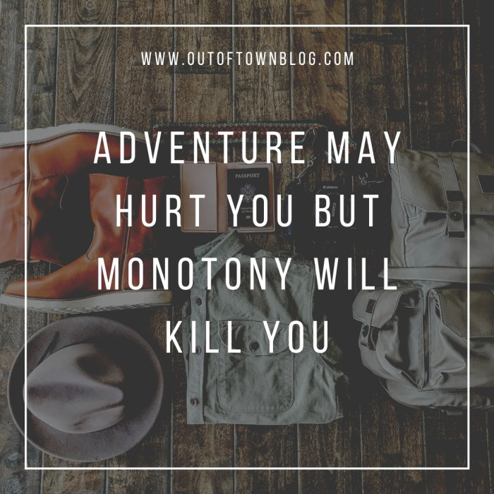 Adventure may hurt you