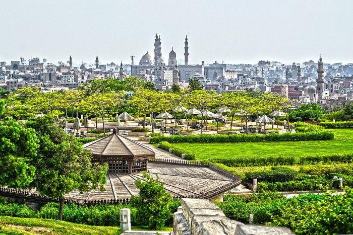 Al-Azhar Park by Yasser Nazmi via Wikipedia CC