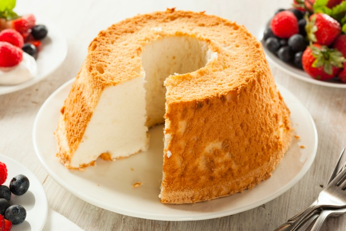 Homemade Angel Food Cake photo via Depositphotos