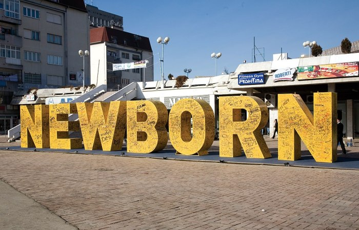 Newborn Monument by Karrota via Wikipedia CC