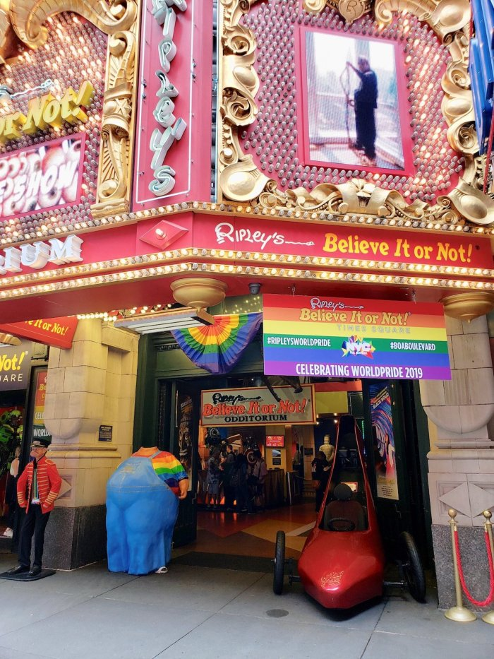 Ripley's Believe it or Not Times Square NYC photo via FB Page