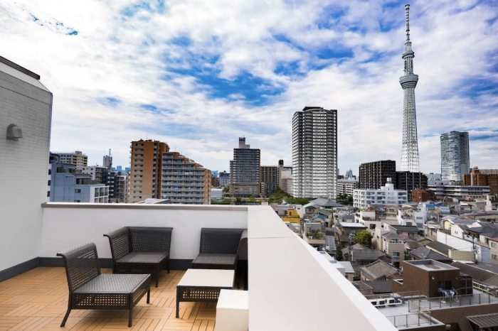 Rooftop Airbnb in Tokyo