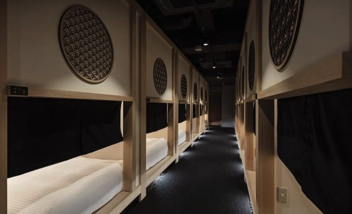 Tokyo Capsule hotel that you do not feel claustrophobic in