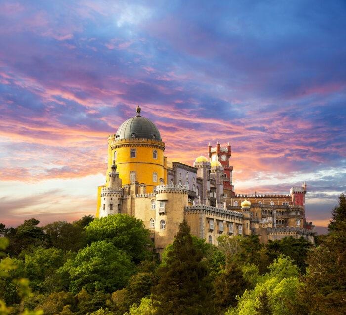 Pena Palace, Sintra, Portugal photo via Depositphotos