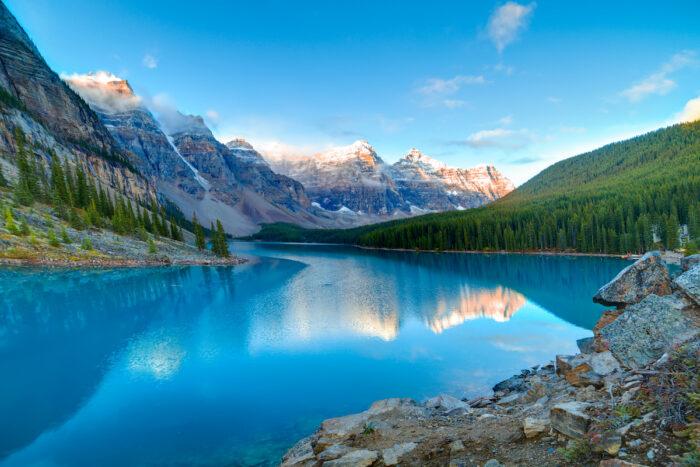 Lake Louise in Alberta photo via Depositphotos