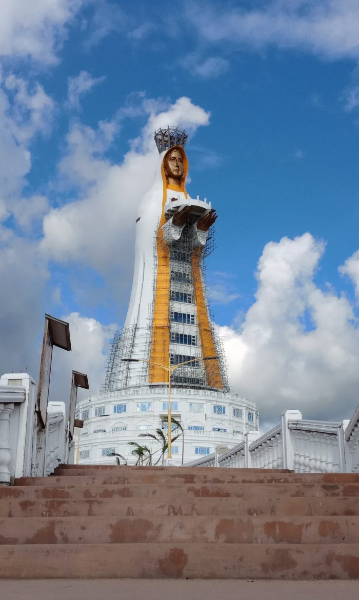 Mother of All Asia–Tower of Peace Montermaria Statue by Lawrence Ruiz via Wikipedia CC
