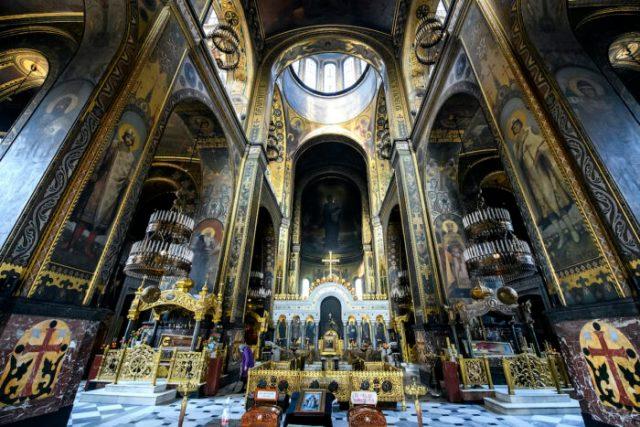 Interior of the St. Volodymyr's Cathedral photo via Depositphotos