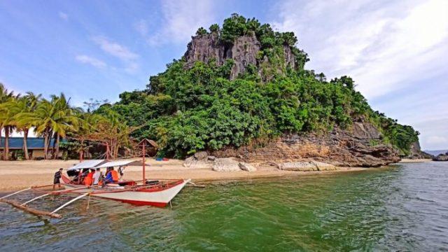 Borawan Island in Quezon Province