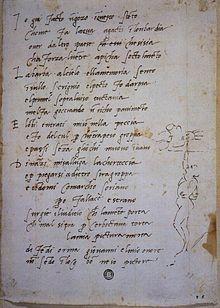 Sonetto sulle fatiche volta Sistina Michelangelo.jpg