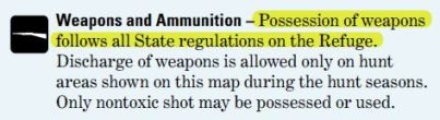 Malheur weapons notice