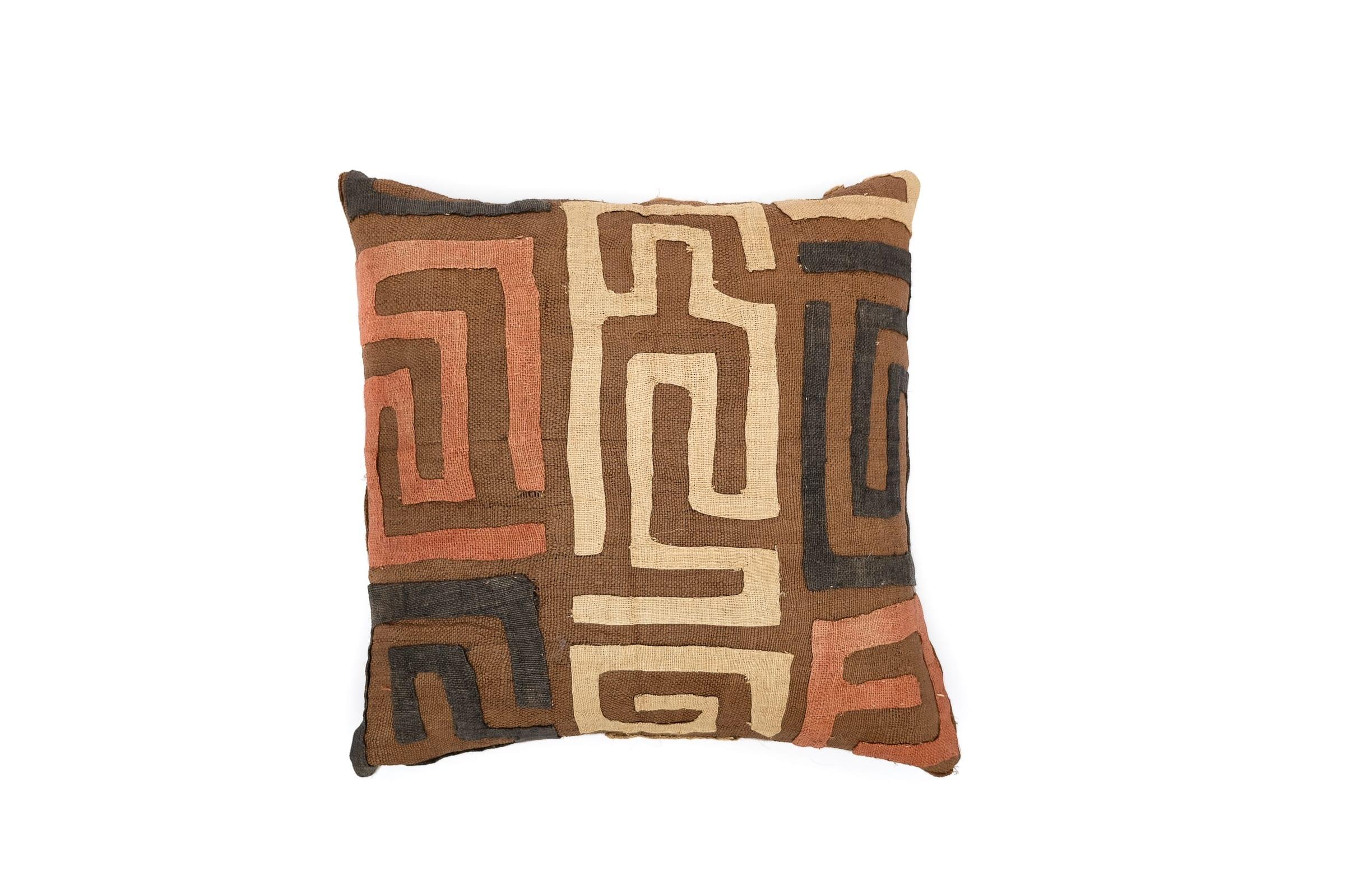 kuba cloth pillows
