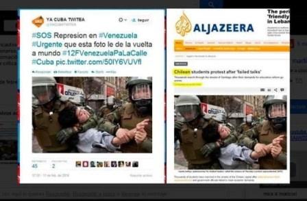 Estudantes chilenos utilizados como meme pela direita venezuela