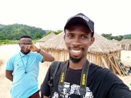 Abiola and I at the fulani settlement