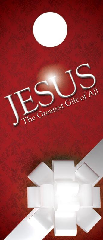 Church Door Hanger Jesus Greatest Gift Outreach Marketing