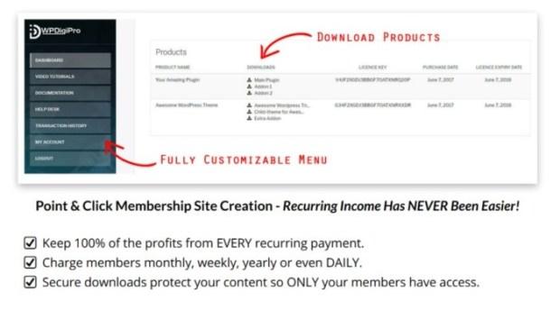 WPDigiPro Reloaded Digital Product Platform Software by Tantan