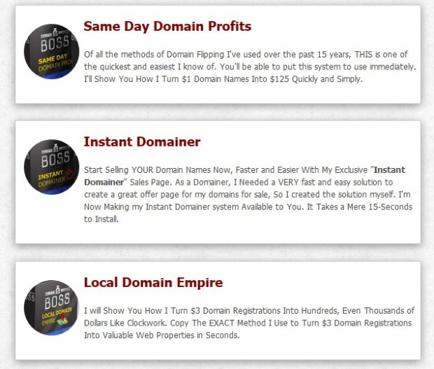 Domain Profits Boss Sale Course Pro Oto   JVZOO RESEARCH