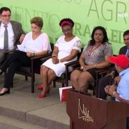 Atos para a Reforma Agrária e Comunidades Quilombolas são assinados pela presidenta Dilma Rousseff