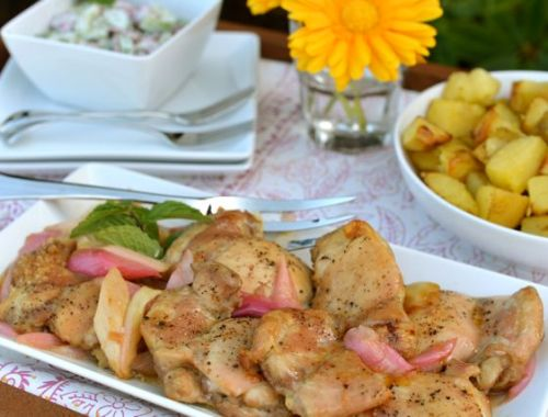 Chicken with Rhubarb