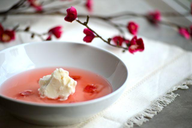 Spring Rhubarb Soup