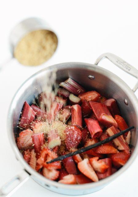 Rhubarb, Strawberries, and Sugar