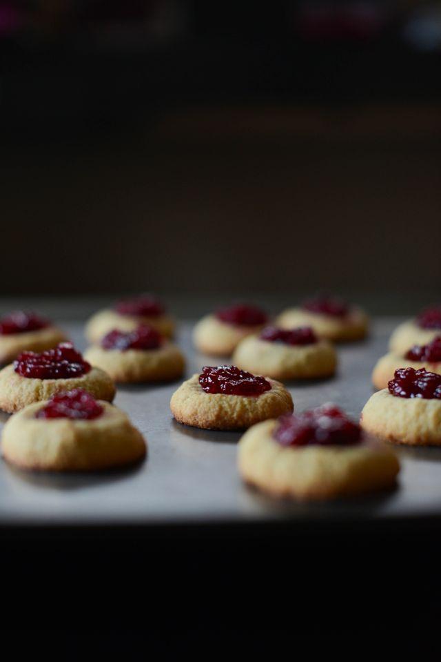 Cardamom Thumbprint Cookies