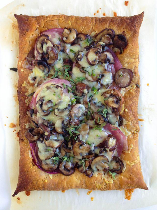 Norwegian Cheese, Onion, and Mushroom Tart