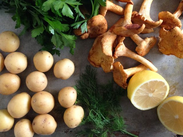 Chanterelles and Potatoes - IMG_9887