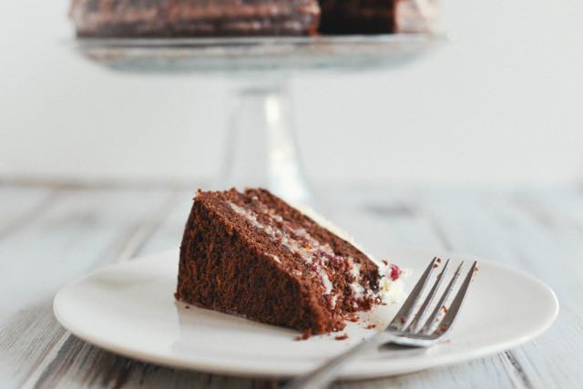 Chocolate Cake with Lingonberry Cream