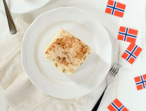 Kvæfjordkake, also known as World's Best Cake