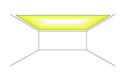 Cornisas con iluminación indirecta. Techo iluminado