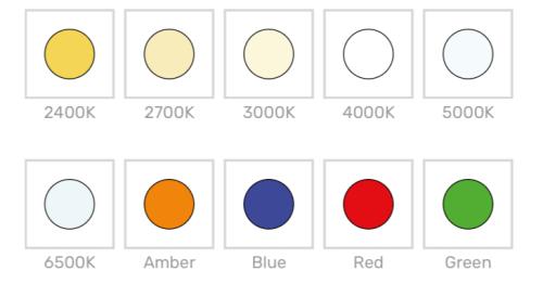 Colores de luz temperatura de color revo xl