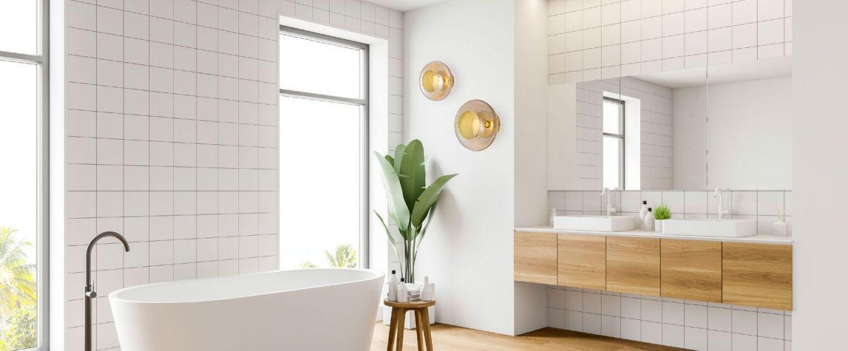 Aplique de pared de cristal para baños