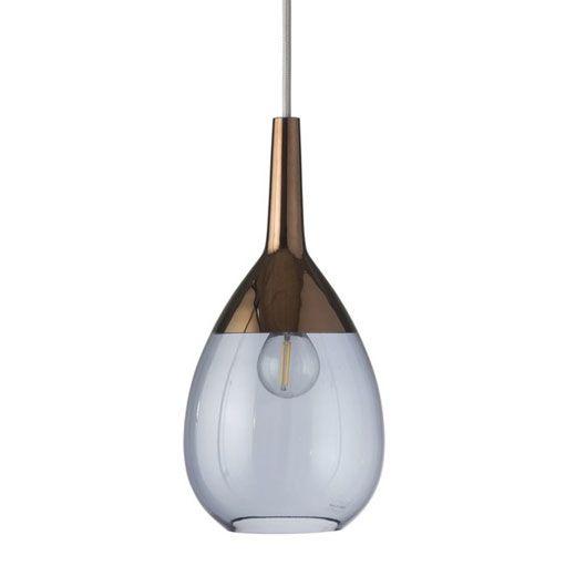 lámpara colgante de cristal