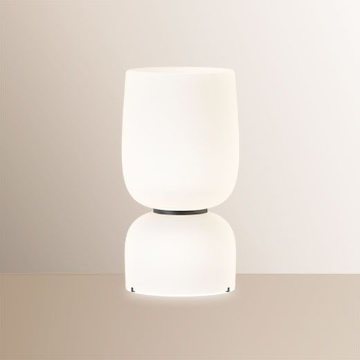 Lámpara de mesa decorativa de cristal