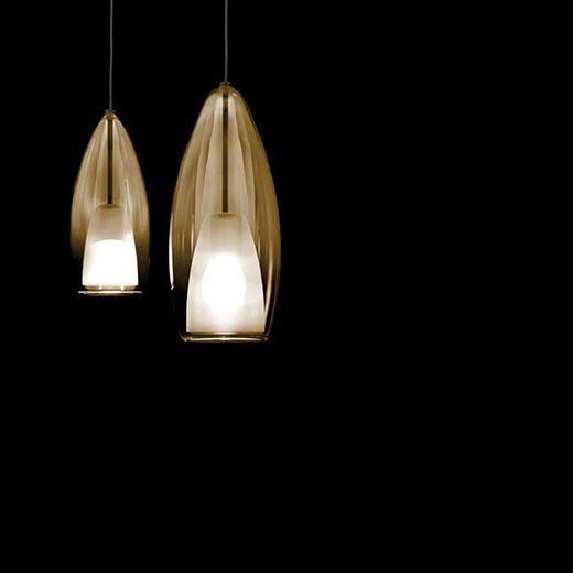Lámpara de suspensión de vidrio