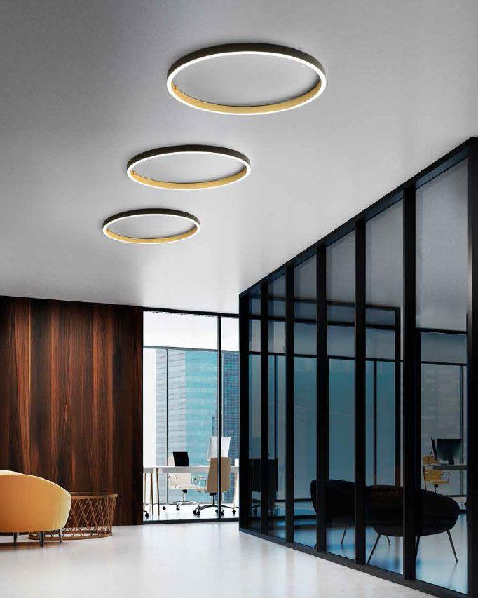 Lámparas de superficie circulares