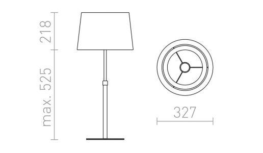 medidas Lámpara de mesa extensible