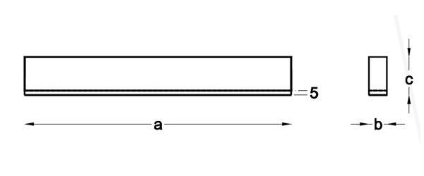 Medidas Lineal LED superficie modelo ProfiSlim2