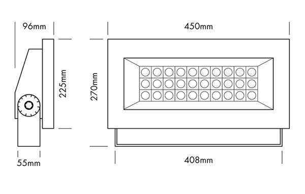 proyector led exterior arquitectonico