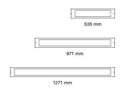 iluminación led lineal empotrada para exterior