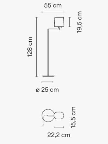 lámpara de pie Swing de VIBIA