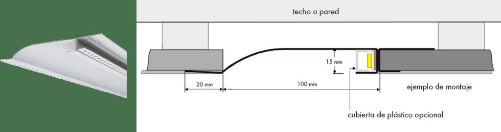 Perfil para tiras led