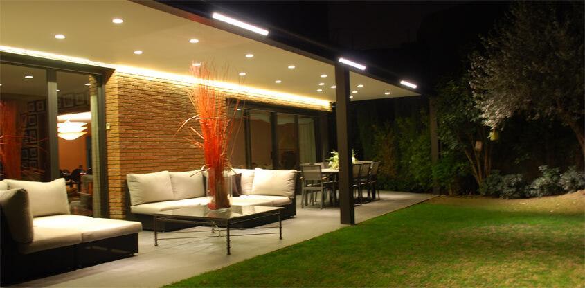 luces de jardín
