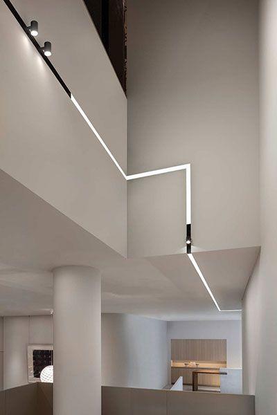 Carriles magnéticos para iluminación arquitectónica