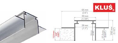Perfil de aluminio para tiras led TEKUS