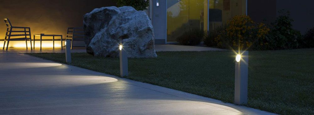Iluminación de jardines y terrazas