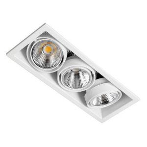Downlight led orientable empotrado triple
