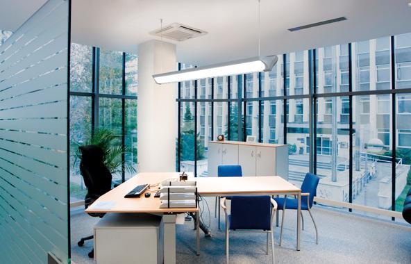 iluminación LED de oficinas. Luces de diseño